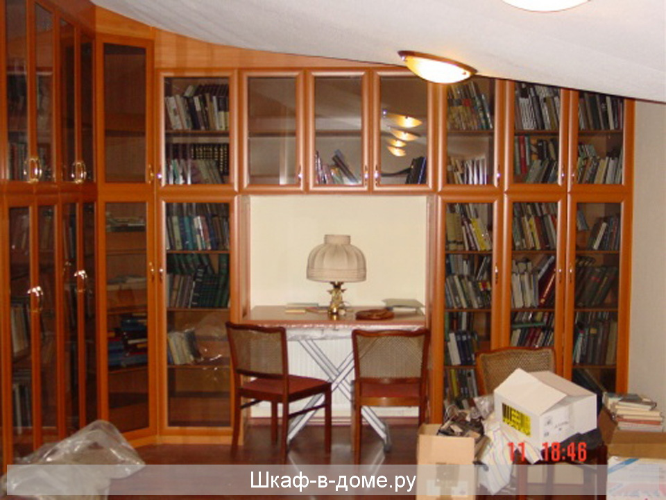 Книжный шкаф купе фото