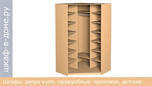 угловой шкаф купе 1400х1400