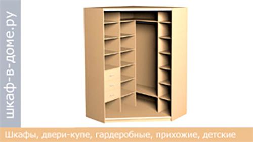 угловой шкаф купе 1600х1600