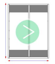 пример - Размер дверей для шкафа купе